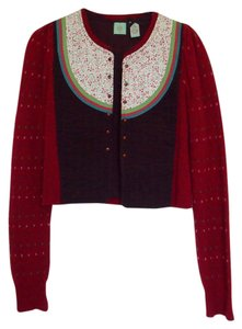 Anthropologie Woven Cardigan Textured Sweater