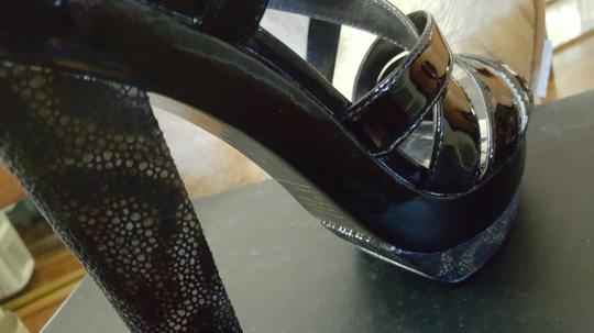 INC International Concepts - In the box! Black Patent Platforms Image 1