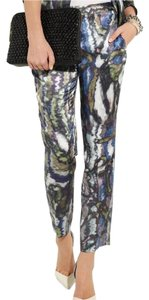 Theory Straight Pants Print