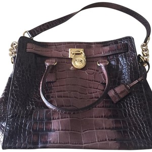 MICHAEL Michael Kors Satchel in Black And brown