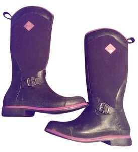 The Original Muck Boot Equestrian Winter Black and purple Boots
