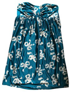 Betsey Johnson Bow Blue Strapless Dress
