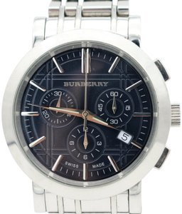 Burberry Burberry Heritage Chronograph Black Dial Stainless Steel Men's Watch
