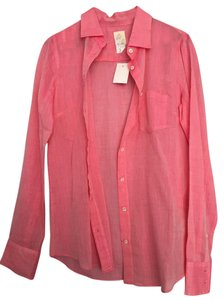 J.Crew Boxy Boyfriend Cotton Casual Button Down Shirt Pink