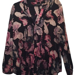 Ivanka Trump Top Black with floral print