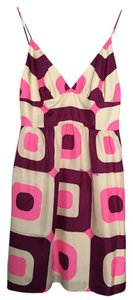 Milly of New York Strappy Sleeveless Silk Print Empire Waist Dress