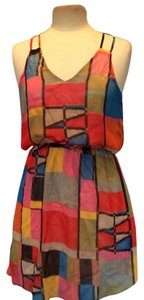 Other short dress Bright Multi-Red, Green, Blue, Yellow on Tradesy