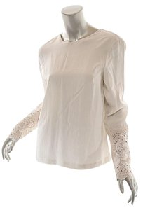 Brunello Cucinelli Crochet Top Ivory