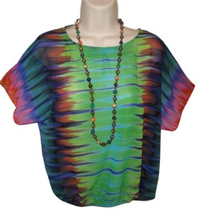 Vince Camuto Top Green Multi color