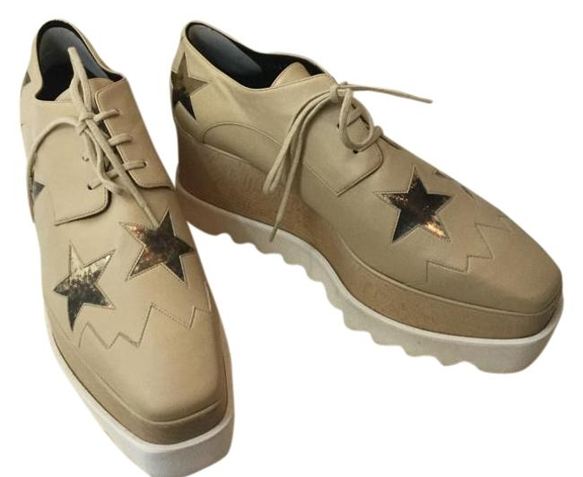 Item - 38.5 Elyse Faux-leather Star Creeper Nude/Gold Platforms Size US 8.5