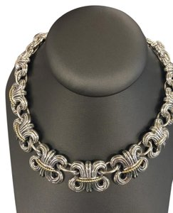 Lagos Lagos Sterling Silver 18k Gold Wheat Chain Necklace