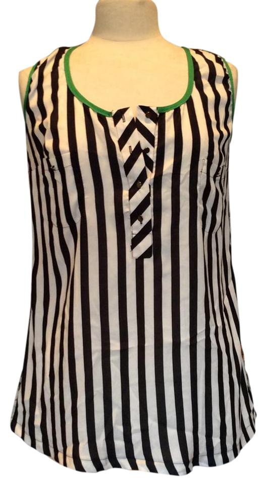 58436c8bc365f3 Black White green Yellow Day-time Trendy Tank Top Cami Size 6 (S ...