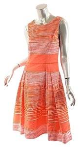 Carolina Herrera short dress Coral & White Cotton Blend on Tradesy
