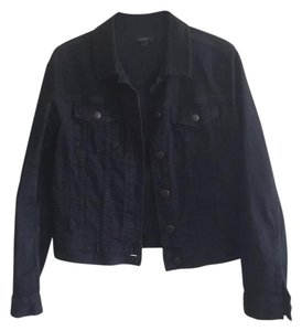 J.Crew Black Womens Jean Jacket