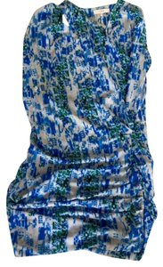 IRO short dress blue Mini Print Sexy Draped on Tradesy