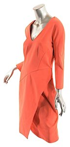 J. Mendel short dress Orange J Viscose Faux Wrap on Tradesy