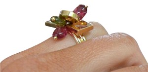 Other SALE $750 GORGEOUS 18K Bella Dolce Peridiot and Tourmaline Charm Ring