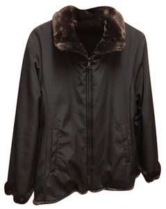 Andrew Marc Reversible Faux Fur Water-repellant Coat