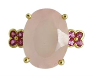 Other Pink Sapphire Quartz Ring- 14k Yellow Gold Gemstone Jewelry.