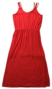 Fleur bleue short dress Tomato red on Tradesy