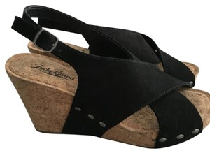 Lucky Brand Wedge Black Sandals
