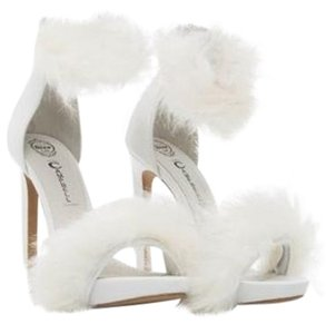 Jeffrey Campbell Faux Fur white Sandals