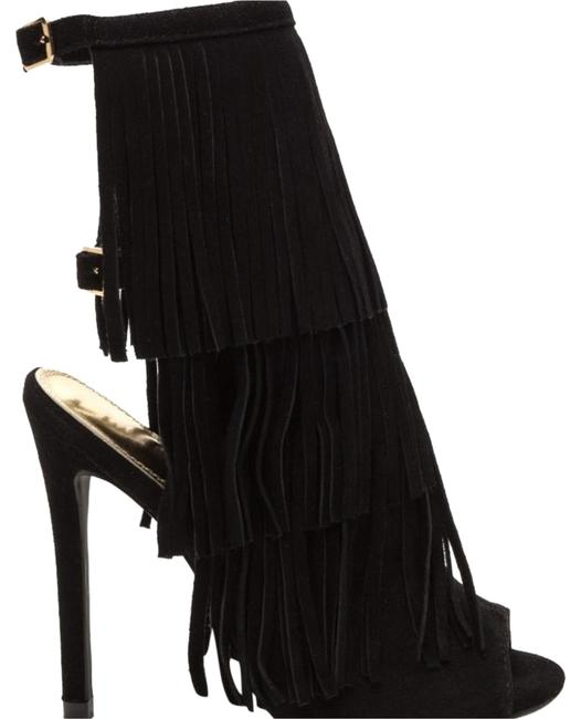 Item - Black Fringe Frenzy Faux Suede Boots/Booties Size US 10 Regular (M, B)