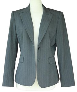 Alex Marie Charcoal Striped Jacket Coat Gray Blazer