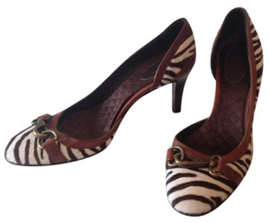 J.Crew Brown and white Pumps
