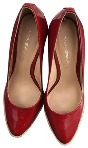Via Spiga Wedge Heel Shoe Red Wedges