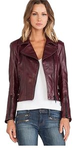 La Marque Wine Leather Jacket