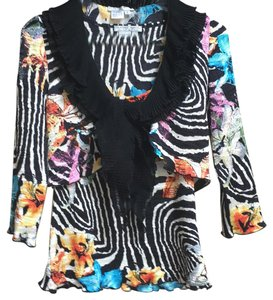 Alberto Makali Top Primarily Black w/ pop colors