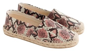 J.Crew Ivory Rose and Chocolate Flats