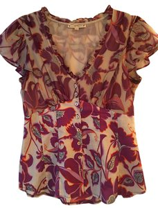 Nanette Lepore Top purple, grey and orange