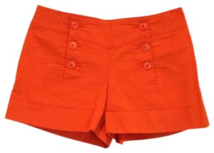 Trina Turk Cuffed Shorts Orange