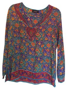 Tolani Top Multicolor with blue base