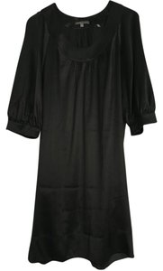 Vince Scoop Neck Quarter Sleeve Silk Dress