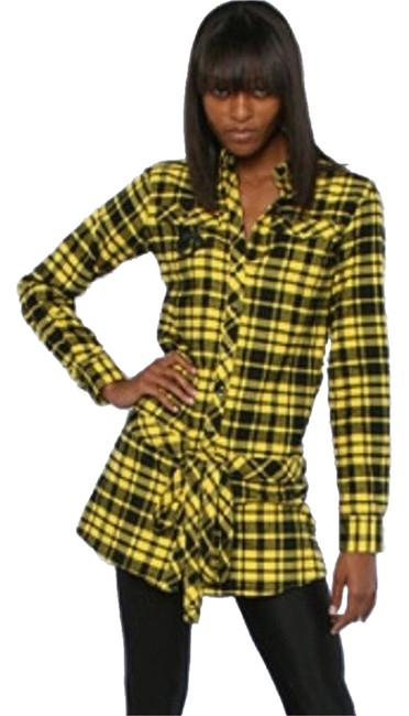 Preload https://img-static.tradesy.com/item/1944780/married-to-the-mob-yellow-plaid-cali-shirtdress-short-casual-dress-size-8-m-0-0-650-650.jpg