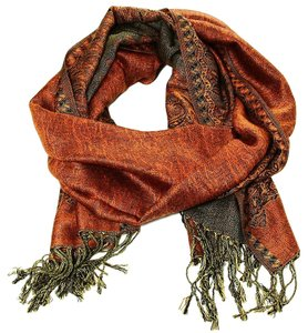 Large Double Sided Fringed Pashmina Wrap Scarf Shawl A0913