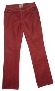 Dylan George Brick Relaxed Pants red