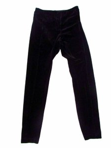 Lysse Pull On Faux Velvet Skinn Skinny Pants Black