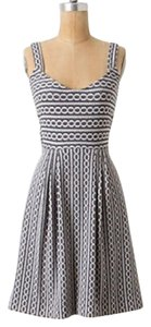 Anthropologie short dress Grey/White on Tradesy