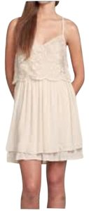 Hollister short dress Cream Sequin Lace Racer-back Flowy on Tradesy