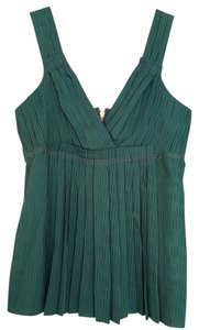 Marc by Marc Jacobs Stripe Silk Camisole Empire Waist Top Green