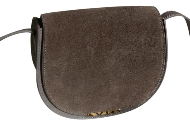 Item - Mini Saddle Grey Leather Cross Body Bag