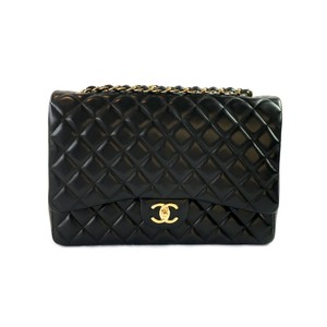 Chanel Lambskin Maxi Double Flap Shoulder Bag