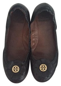 Tory Burch Black / Gold Flats