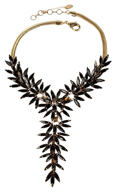Item - Gold Black Austrian Crystals Kenmare Spikey Blk Necklace