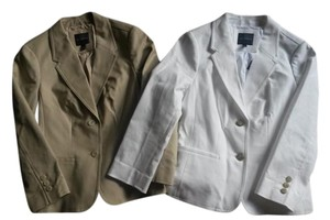 The Limited Spring White Tan Blazer