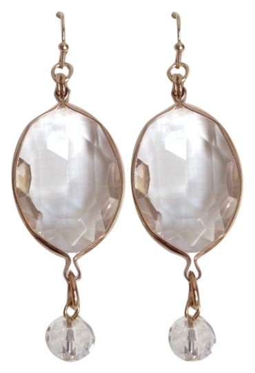 Other NWOT Saks Clear stone & gold tone earrings